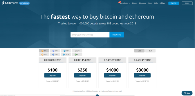 Coinmama offers an easy, fast & secure way to buy cryptocurrency. After learning about bitcoins,many people want to buy bitcoins. CoinMamma is a user friendly platform no fuss, Quick & Easy Registration.Check out the link below.